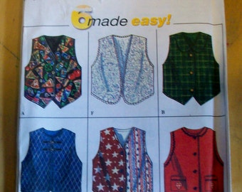 Simplicity 7357 Girls Vest   sewing pattern