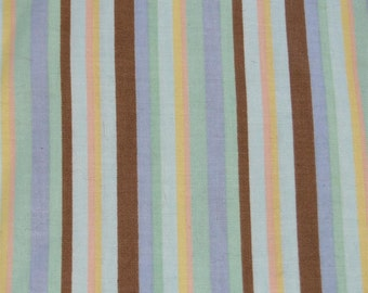 Pastel Striped Cotton fabric- 1 yard