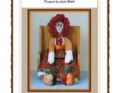 Lili The Folkart Doll Loves The Fall and Her Pumpkins E-Pattern