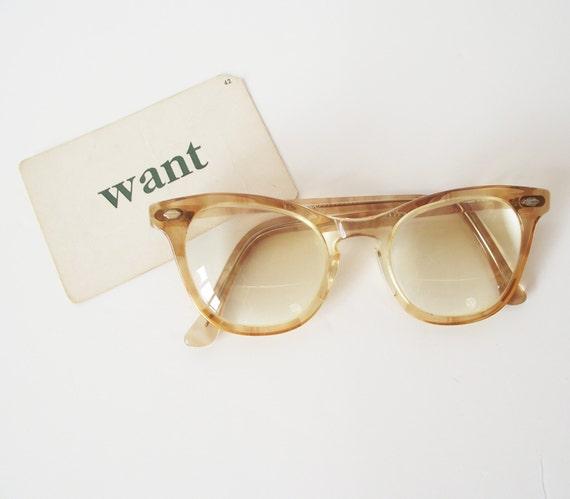 Vintage art craft eyeglasses blonde nerd by for Art craft eyeglasses vintage