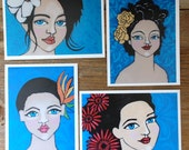 Island Girls Set of 4  5x7 prints