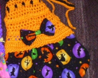 NEON HALLOWEEN DOG Skirt-ters - Witches n Bats Or other Neon fabrics - so cute -2 to 20 lb dogs- made to order