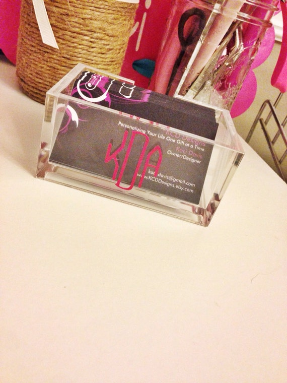 Personalized Acrylic Business Card Holder by KCDDesigns on ...
