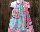 Michael Miller Princess and the Pea Pillowcase Dress, Sizes 3M  up to 7 years