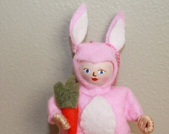 Pink Easter Bunny Spring Decoration