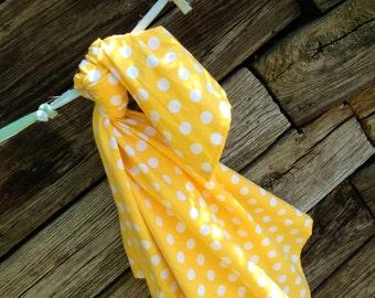 Riley Blake Yellow Dot Baby Blanket Flannel Swaddler