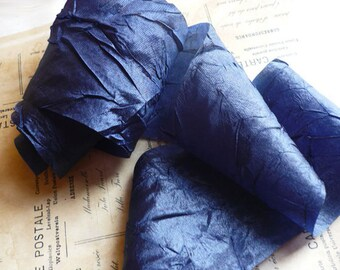 "10 Yards of Silky Navy Crinkle Ribbon (1"")"