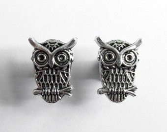 """4g 2g 0g 00g 7/16"""" (5mm-11mm) / Owl Plugs Gauges Stretchers Earrings / Stretched Gauged Ears"""