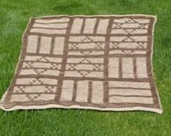 Illusion Knitting Pattern Generator : Illusion Knitted Chanukah Miracle Blanket/Wall Hanging ...
