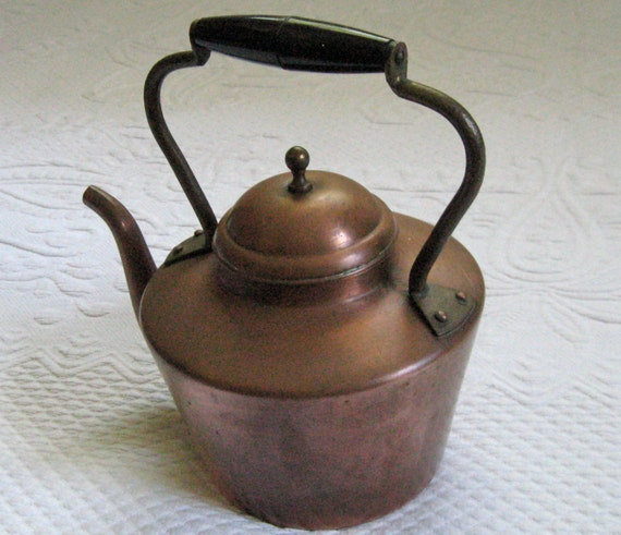 retro tea kettle vintage copper tea kettle 1950s 1949