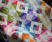 Baby Quilt-Scrap Quilt-Lap quilt-Playmat-Crib quilt-Patchwork-Boy or girl quilt-Stepping Stones - happyquilts