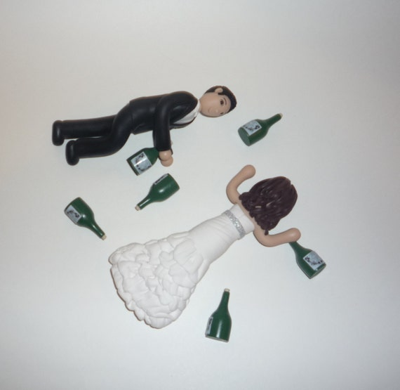 Personalized Drunk Wedding Cake Topper