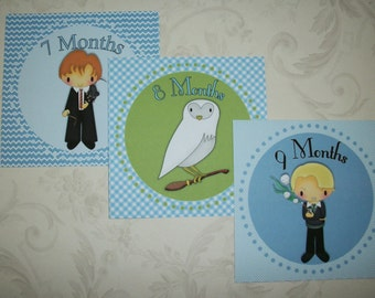 BoY BaBy PHOTo ProPs - WIZARDS - SeT oF12 - Stickers - Click on all photos - Monthly Stickers - HPMS 77685