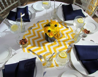"""TABLE ROUNDS CHEVRON Yellow and white table rounds for Centerpieces Yellow  zigzag chevron 20"""" Other Colors Available"""