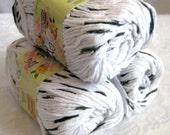 Creme de la Creme Cotton Yarn, Dalmatian black and white, worsted weight, Zebra