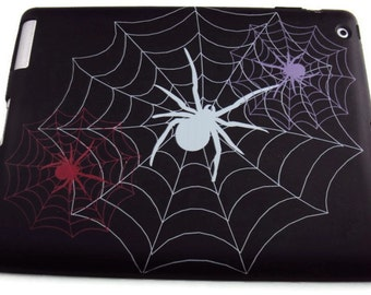 Ipad 2, 3 or 4 silicone Protective Cover, Protective Case, Spider Web Print