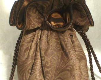 The Look of Tooled Leather Jewelry Pouch: Jewerly Travel Pouch for Cowgirls