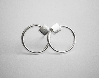 CUBE sterling silver earrings