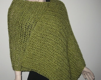 Homespun Prayer Shawl in Apple Green