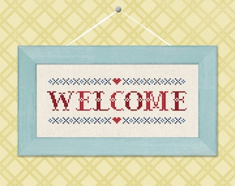 Welcome. Text Cross Stitch Pattern PDF File