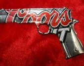 Coors light lite Recycled Beer Can Christmas ornament magnet stocking stuffer Gun pistol