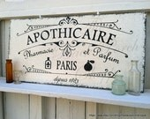 APOTHICAIRE, APOTHECARY, Pharmacy, First Aid Signs, Perfume, French Signs, Paris Signs, Bathroom Signs