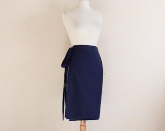 promotion listing simple wrap cotton skirt
