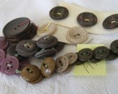 LOT Sets of VINTAGE Brown  Purple & Tan Plastic Craft Sewing BUTTONS  A3
