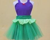ARIEL tutu  Apron mermaid dress up apron for little girls