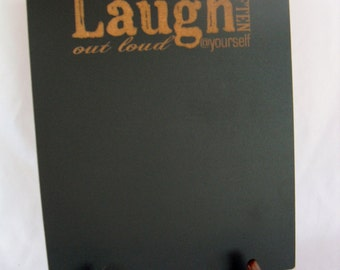 Chalkboard Sign with Easel - Laugh Often - Item E1491