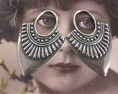 Silver Ox Plated Brass Ornamental Drop 501SOX  x2