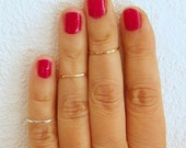 Above the knuckle rings, first knuckle ring, slim gold filled and sterling silver stackable rings/ rose gold stacking rings