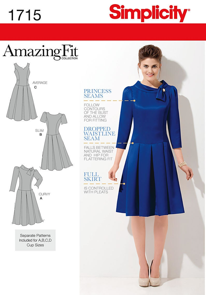 Simplicity 1715 Fit Amp Flare Dress Pattern