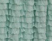 Ruffle Curtain Valance, Pistachio Light Mint Green, Many Sizes Available