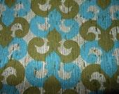 Vintage Mod Eames Era Cotton Canvas Fabric - 3 Yards