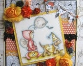 OOAK Halloween Hand Made Greeting Card