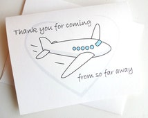Wedding Thank You for coming from so far away Card