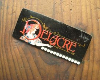 Vintage Recycled Delacre Tin Magnet, Gifts under 15,  Vintage Home Decor, Repurposed Vintage