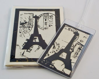 Paris Passport with Bag Tag