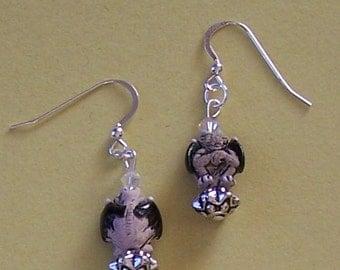 GARGOYLE Earrings - Sterling Silver French Earwires -