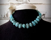 Bohemian Style Russian Amazonite Gemstone Necklace