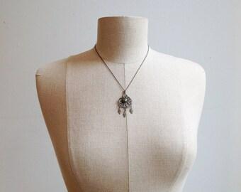 Vintage Silver Filigree Necklace.