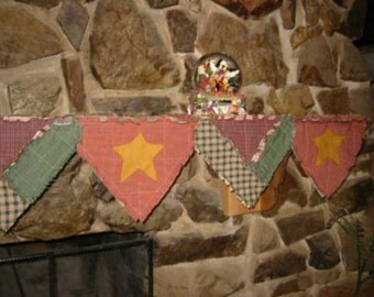 Halloween, Christmas, Reversible, Rag Quilted Mantle Cover E-Pattern, Digital Downloadable Pattern