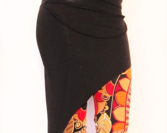 ON SALE - Assymetrical Elven Skirt with Braids