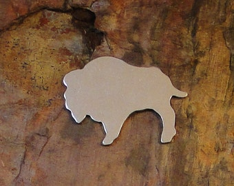 "5 Deburred 18G Aluminum 1 1/4"" inch X 1"" BISON BUFFALO Stamping Blanks"
