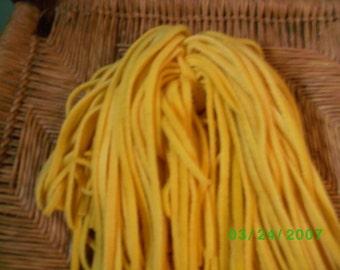 80 Hand Dyed Wool Rug Hooking Strips Lemon Yellow