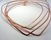 Copper neck wire (1) - heavy wire - very comfortable fit -  just add any pendant - Comes in three sizes 16 18 20 inches