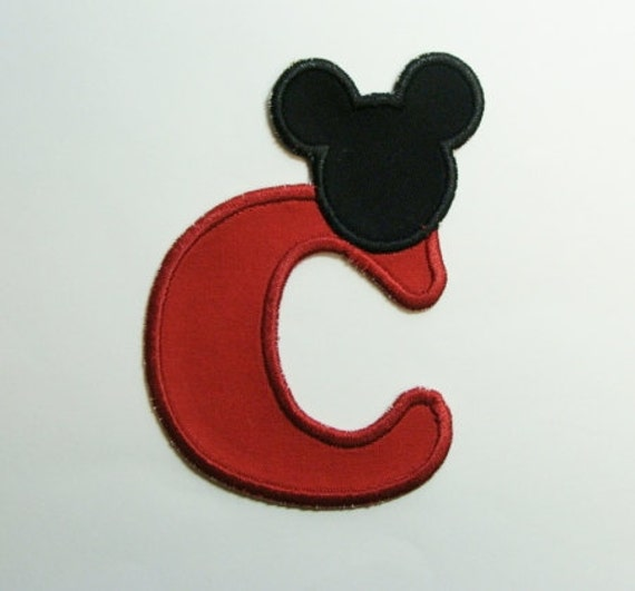 Mouse Ear Alphabet-Embroidered Clothing Applique-100350