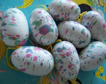 speckled  wooden eggs