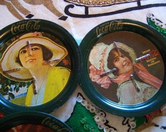 vintage coca cola coasters set